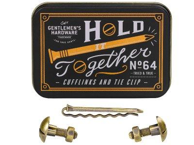 Gentlemen's Hardware ジェントルメンズ ハードウェア Cufflink & Tie Pin Set (カフリンク&タイピン セット) hold together!
