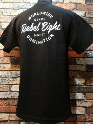 REBEL8 レベルエイト Tシャツ  ww domination t-shirts  カラー:ブラック