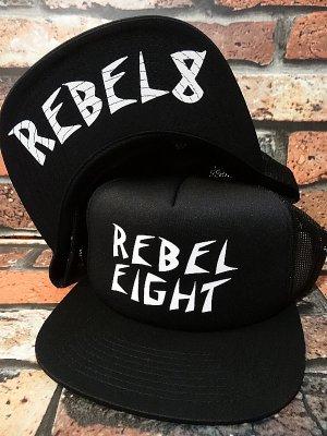 rebel8 レベルエイト フリップアップ メッシュキャップ  curb rats  カラー:ブラック