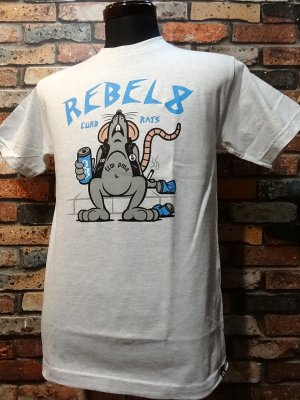 REBEL8 レベルエイト Tシャツ  curb rats  t-shirts  カラー:オートミール