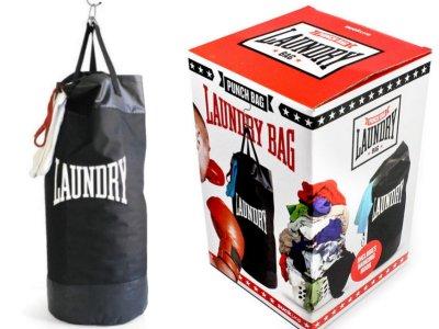 ランドリーパンチバッグ! ボクシングジムでよく見るサンドバッグのようなランドリーバッグです。