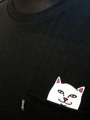 RIP N DIP リップンディップ Tシャツ (Lord Nermal Pocket Tee)    カラー:ブラック