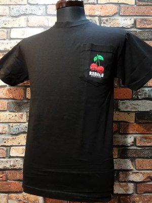 REBEL8 レベルエイト Tシャツ  Fruits Of Labor Pocket Tee  カラー:ブラック