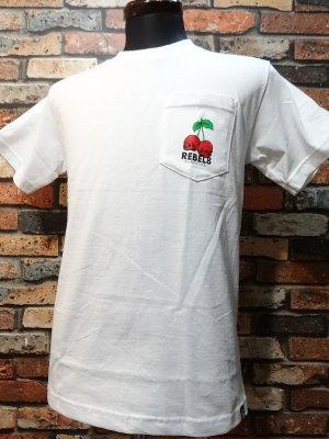 REBEL8 レベルエイト Tシャツ  Fruits Of Labor Pocket Tee  カラー:ホワイト
