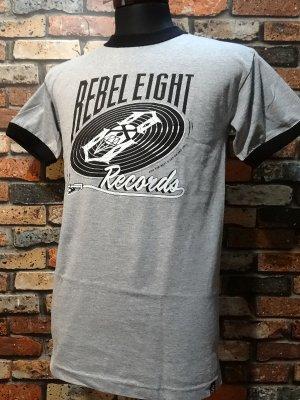 REBEL8 レベルエイト  リンガーTシャツ  And The Beat Goes Tee  カラー:グレー