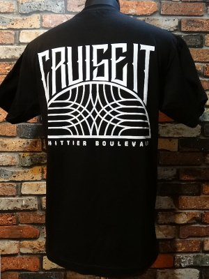 CRUISE IT MAGAZINE Tシャツ (WHITTIER BOULEVARD)   カラー:ブラック