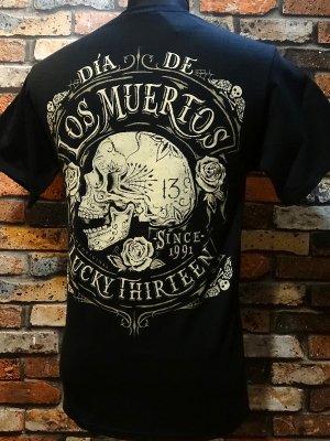 lucky13 ラッキー13 Tシャツ (DEAD SKULL)  カラー:ブラック