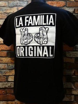 LA FAMILIA ORIGINAL ラ ファミリアオリジナル Tシャツ (HU$TLIN') カラー:ブラック