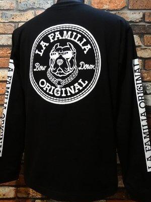 LA FAMILIA ORIGINAL ラ ファミリアオリジナル ロングスリーブTシャツ (BOW DOWN) カラー:ブラック