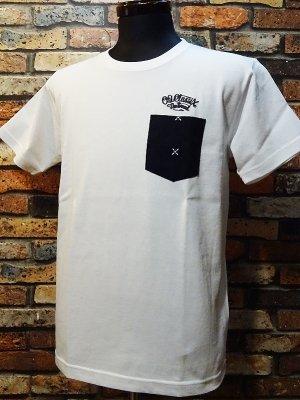 OG Classix オージークラッシックス  7.1ozポケット付きTシャツ (cross world bandana pocket tee) カラー:ホワイト
