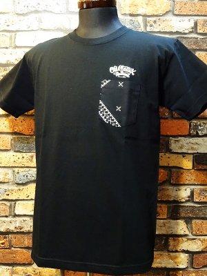 OG Classix オージークラッシックス  7.1ozポケット付きTシャツ (cross world bandana pocket tee) カラー:ブラック