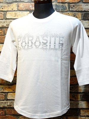 parasite パラサイト 3/4スリーブTシャツ CROWS  カラー:ホワイト