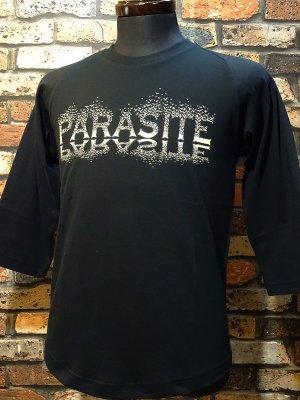 parasite パラサイト 3/4スリーブTシャツ CROWS  カラー:ブラック