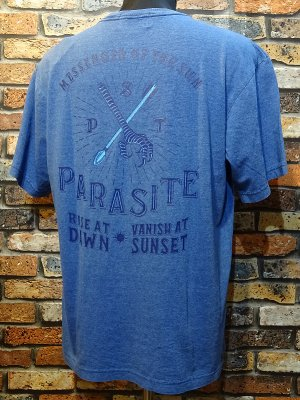 parasite パラサイト Tシャツ YATA CROW  カラー:インディゴブルー