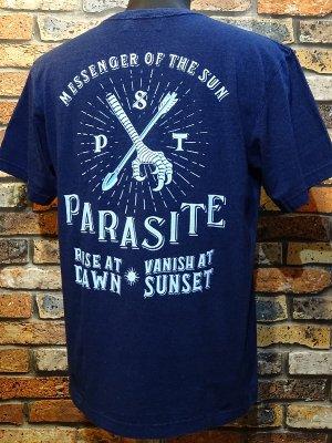 parasite パラサイト Tシャツ YATA CROW  カラー:インディゴネイビー