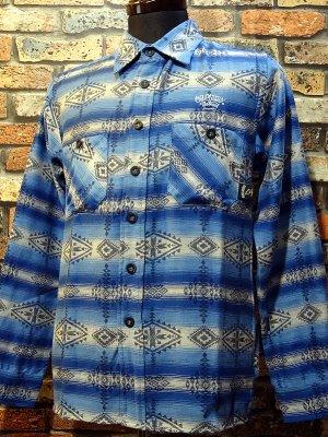 OG Classix オージークラッシックス 長袖ネイティヴシャツ  native life shirt  カラー:ブルー