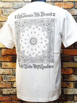 OG Classix オージークラッシックス  Tシャツ (paisley cross bandana tee) カラー:ホワイト
