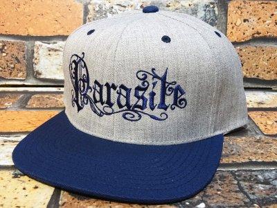 parasite パラサイト スナップバックキャップ (PARASITE) カラー:ネイビーxヘザーグレー