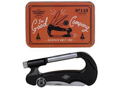 Gentlemen's Hardware ジェントルメンズ ハードウェア (Carabiner Multi Tool) カラビナ付 持ち歩きに便利なマルチツール