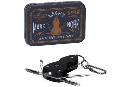 Gentlemen's Hardware ジェントルメンズ ハードウェア (Pocket Multi Tool Flash Light) フラッシュライト付マルチツール
