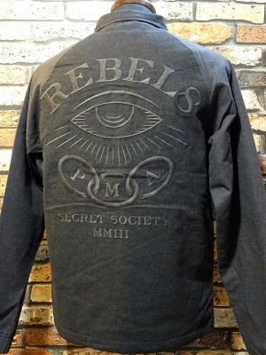 REBEL8 レベルエイト ラグラン フランネルジャケット the order jacket  カラー:チャコールグレー