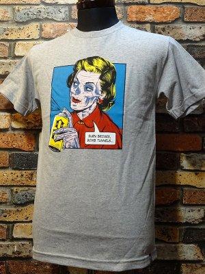 REBEL8 レベルエイト Tシャツ  BEN-DAY  カラー:グレー