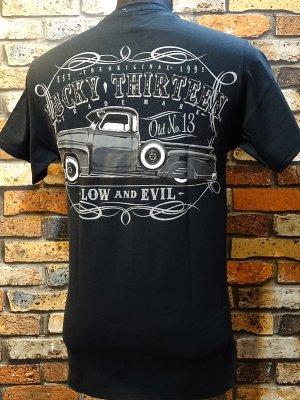 lucky13 ラッキー13 Tシャツ (The DRAGGER)  カラー:ブラック