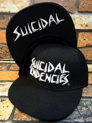 SuicidalTendencies スイサイダルテンデンシーズ snapback cap (Full Embroidered Custom Snapback ) カラー:ブラック