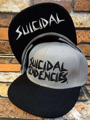 SuicidalTendencies スイサイダルテンデンシーズ snapback cap (Full Embroidered Custom Snapback ) カラー:グレー