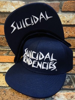 SuicidalTendencies スイサイダルテンデンシーズ snapback cap (Full Embroidered Custom Snapback ) カラー:ネイビー