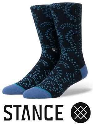 STANCE SOCKS スタンスソックス  (VERACRUZ) bandana paisley  カラー:ネイビー
