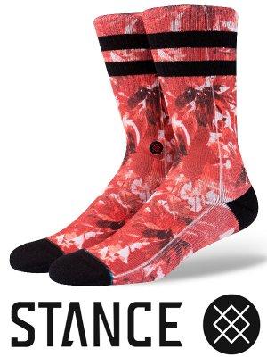 STANCE SOCKS スタンスソックス  (YADDA )  カラー:レッド