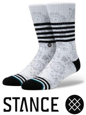 STANCE SOCKS スタンスソックス  (BRIAR) bandana paisley  カラー:ホワイト