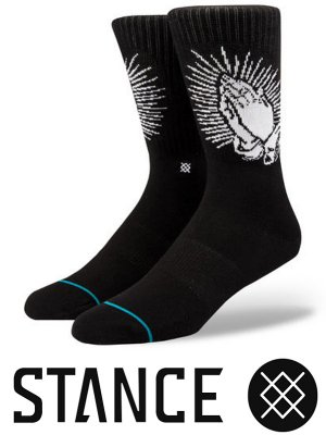 STANCE SOCKS スタンスソックス  (SPIRITO) Praying Hands  カラー:ブラック