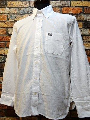RealMinority リアルマイノリティー 長袖ボタンダウンシャツ(GRAFFTAG)  カラー:ホワイト