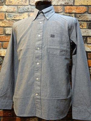 RealMinority リアルマイノリティー 長袖ボタンダウンシャツ(GRAFFTAG)  カラー:グレー