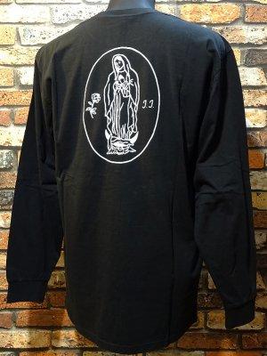 BRIXTON x JASON JESSEE リミテッド コラボ ロングスリーブTシャツ(MADRE JASON JESSEE L/S PREMIUM TEE) カラー:ブラック