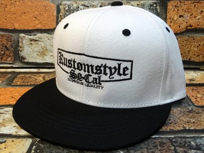 kustomstyle カスタムスタイル  スナップバックキャップ (KSCP1712BKWH) supreme quality snap back cap カラー:ホワイト