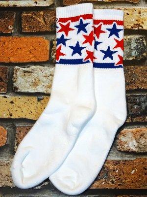 SOCCO SOCKS  ハイソックス  (MC18) Star Spangled Mo Star Crew  カラー:ホワイト