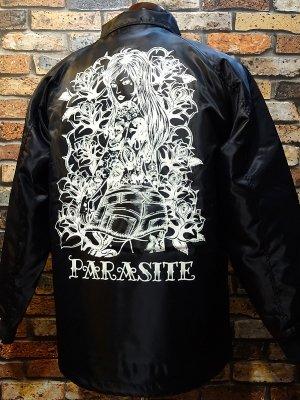 parasite パラサイト ボア付きコーチジャケット (rose lip) カラー:ブラック