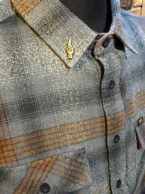 LOSER MACHINE ルーザーマシーン 長袖フランネル チェックシャツ (Grant Without) カラー:グレーxブラウン