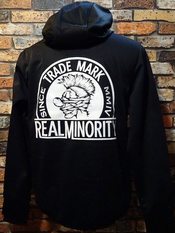 RealMinority リアルマイノリティー  ストレッチ ボンディング フルジップパーカー (TRADE MARK)  カラー:ブラック