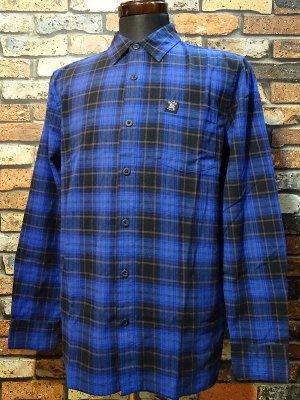 HARD LUCK ハードラック  長袖フランネル チェックシャツ (FLANNEL CHECK L/S SHIRTS)  カラー:ネイビー