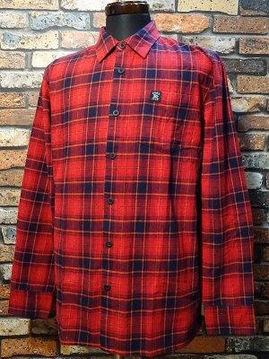 HARD LUCK ハードラック  長袖フランネル チェックシャツ (FLANNEL CHECK L/S SHIRTS)  カラー:レッド