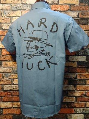 HARD LUCK ハードラック  半袖ワークシャツ (SHORT SLEVE WORK SHIRTS) カラー:ライトブルー