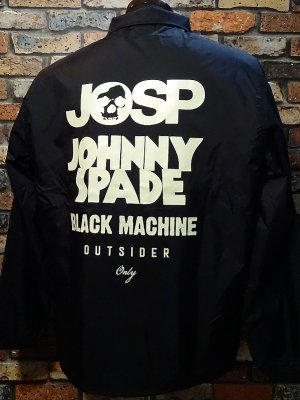 JOSP ジョニースペード ボア付きコーチジャケット (BLACK MACHINE)  カラー:ブラック
