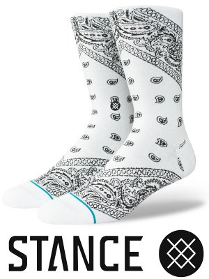 STANCE SOCKS スタンスソックス  (BARRIO 2) bandana paisley  カラー:ホワイト