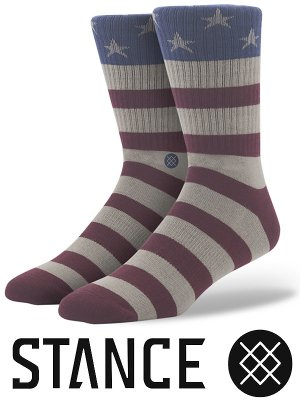 STANCE SOCKS スタンスソックス  (THE FOURTH) maria  カラー:エンジxグレー