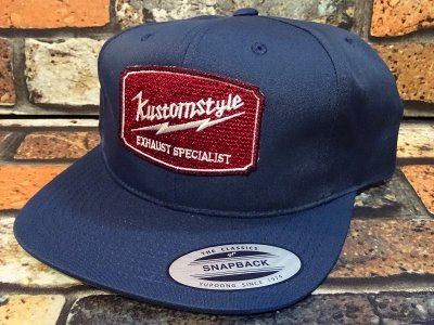 kustomstyle カスタムスタイル  スナップバックキャップ (KSCP1418NY) exhaust specialist snap back cap カラー:ネイビー