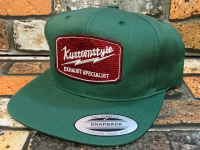 kustomstyle カスタムスタイル  スナップバックキャップ (KSCP1418GR) exhaust specialist snap back cap カラー:グリーン